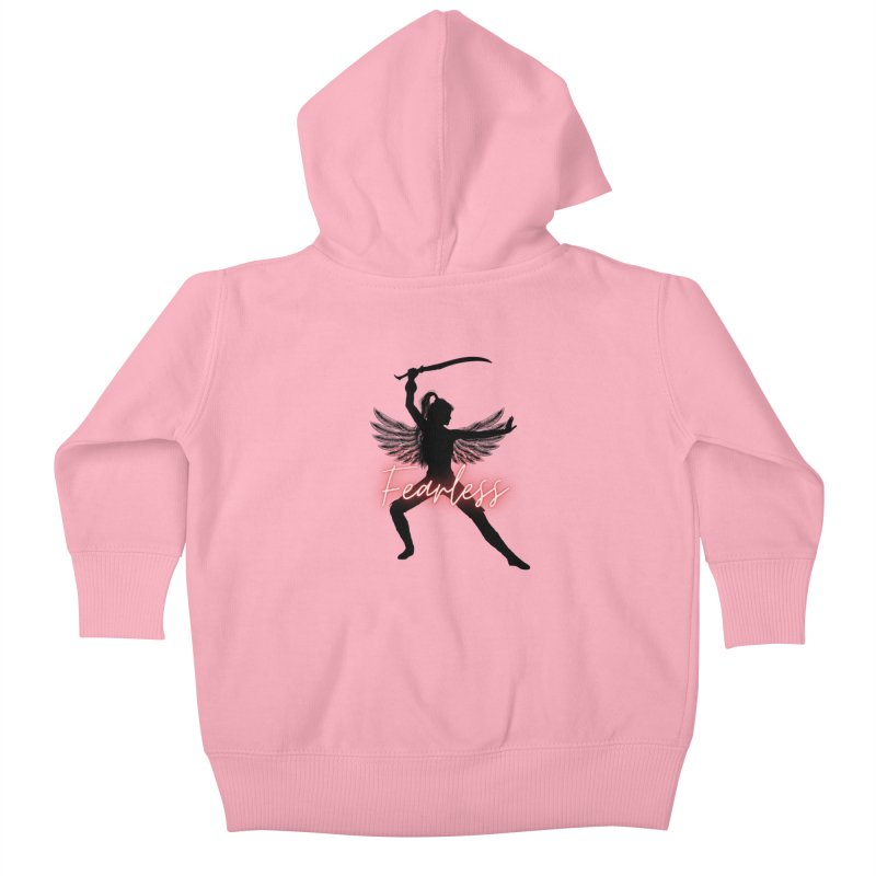Fearless Female Kids Baby Zip-Up Hoody by Dream BOLD Network Shop