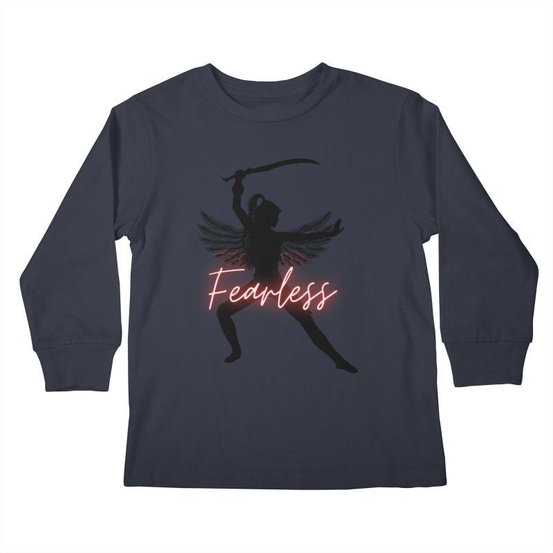 Fearless Female Kids Longsleeve T-Shirt by Dream BOLD Network Shop