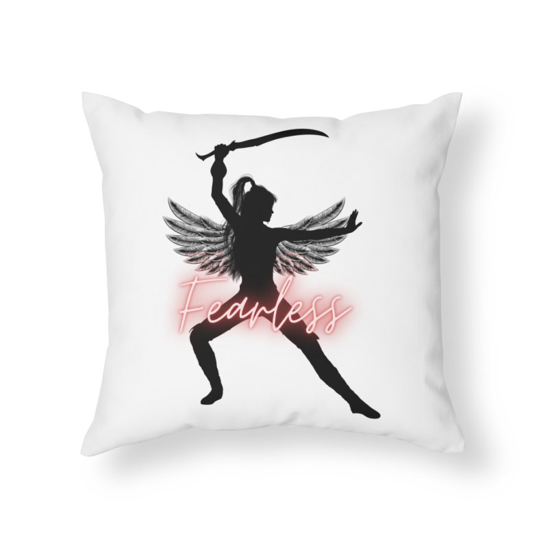 Fearless Female Home Throw Pillow by Dream BOLD Network Shop