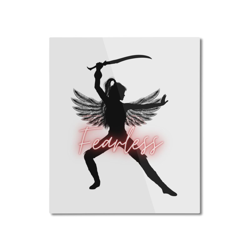 Fearless Female Home Mounted Aluminum Print by Dream BOLD Network Shop