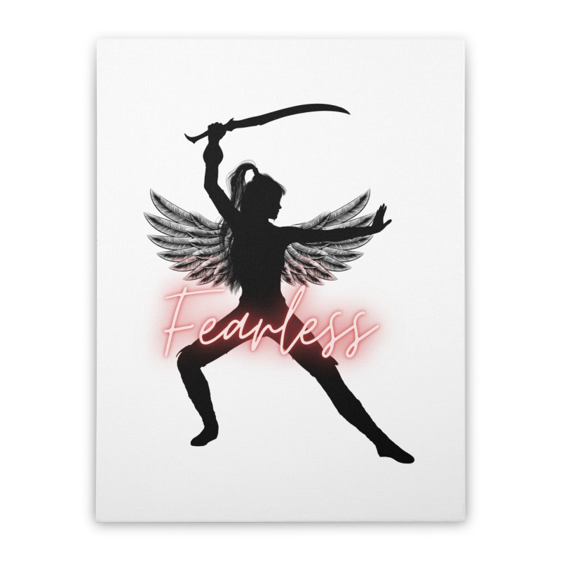 Fearless Female Home Stretched Canvas by Dream BOLD Network Shop