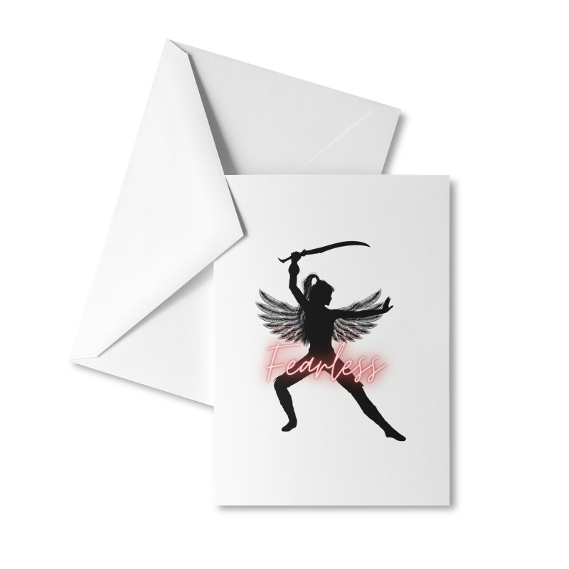 Fearless Female Accessories Greeting Card by Dream BOLD Network Shop