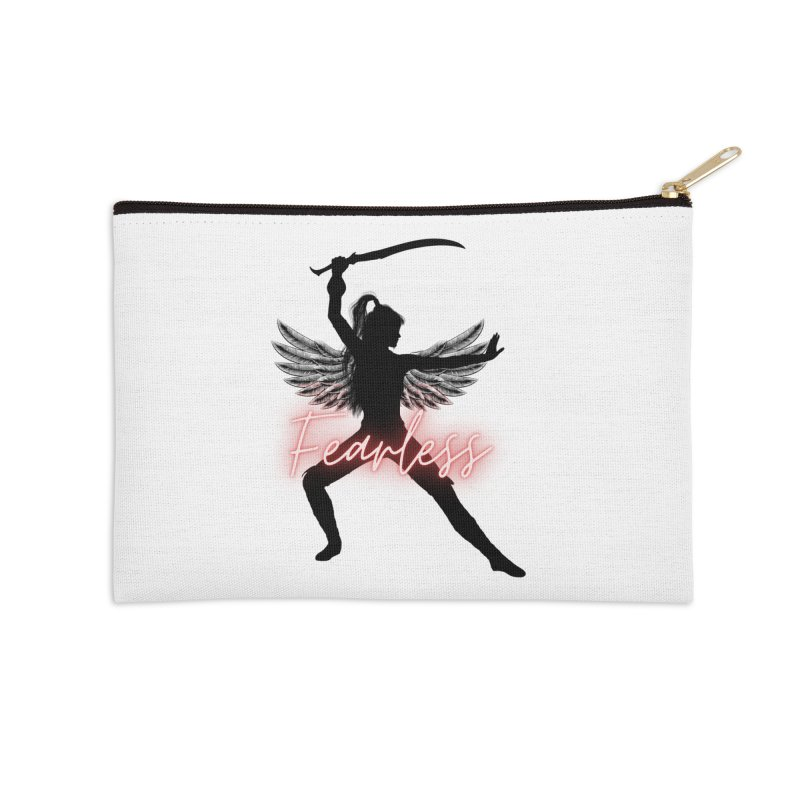 Fearless Female Accessories Zip Pouch by Dream BOLD Network Shop