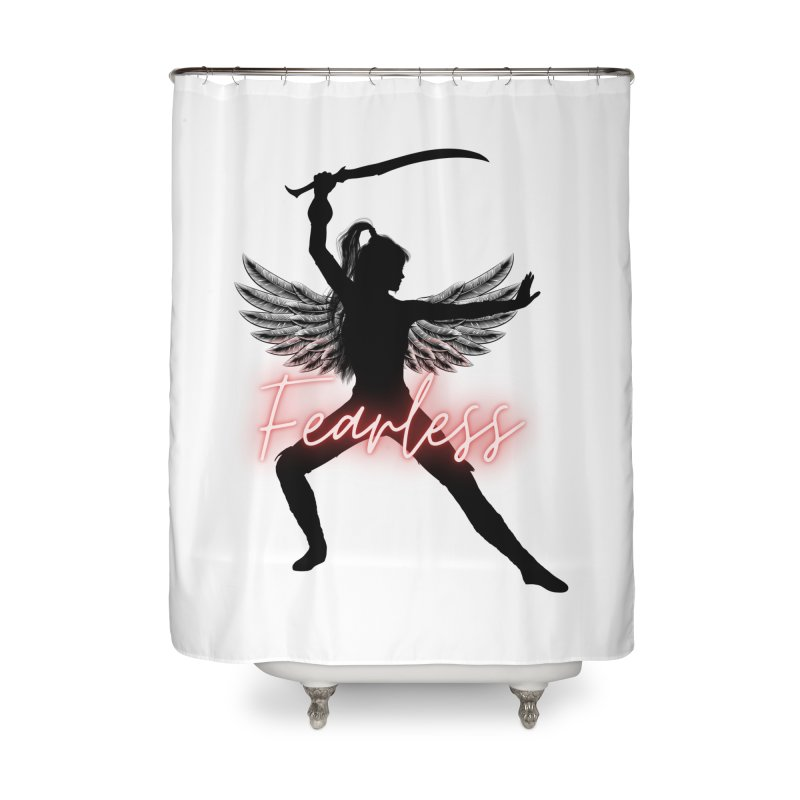 Fearless Female Home Shower Curtain by Dream BOLD Network Shop