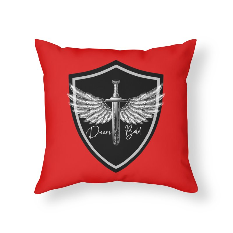 Bold Shield Home Throw Pillow by Dream BOLD Network Shop