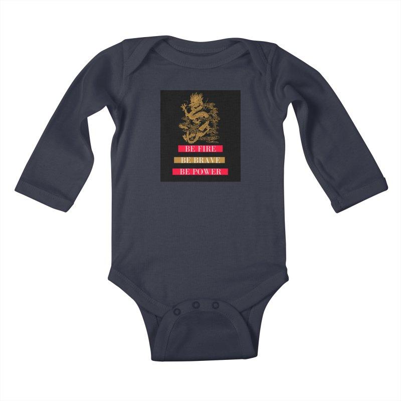 Be Fire Kids Baby Longsleeve Bodysuit by Dream BOLD Network Shop