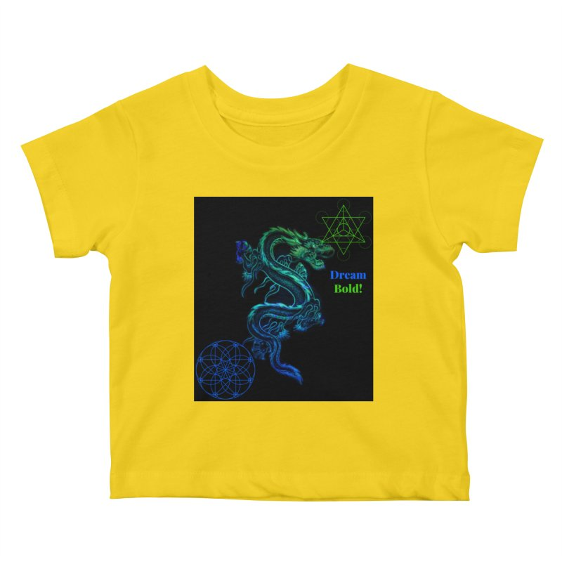 Dream Bold Dragon Kids Baby T-Shirt by Dream BOLD Network Shop