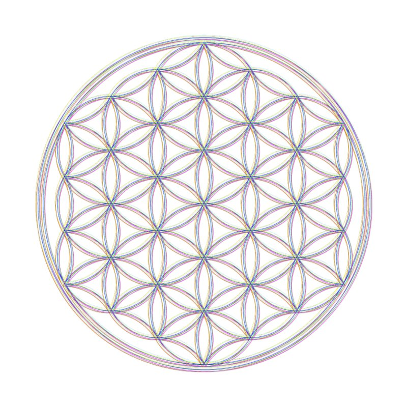 Flower of Life Home Mounted Acrylic Print by Dream BOLD Network Shop