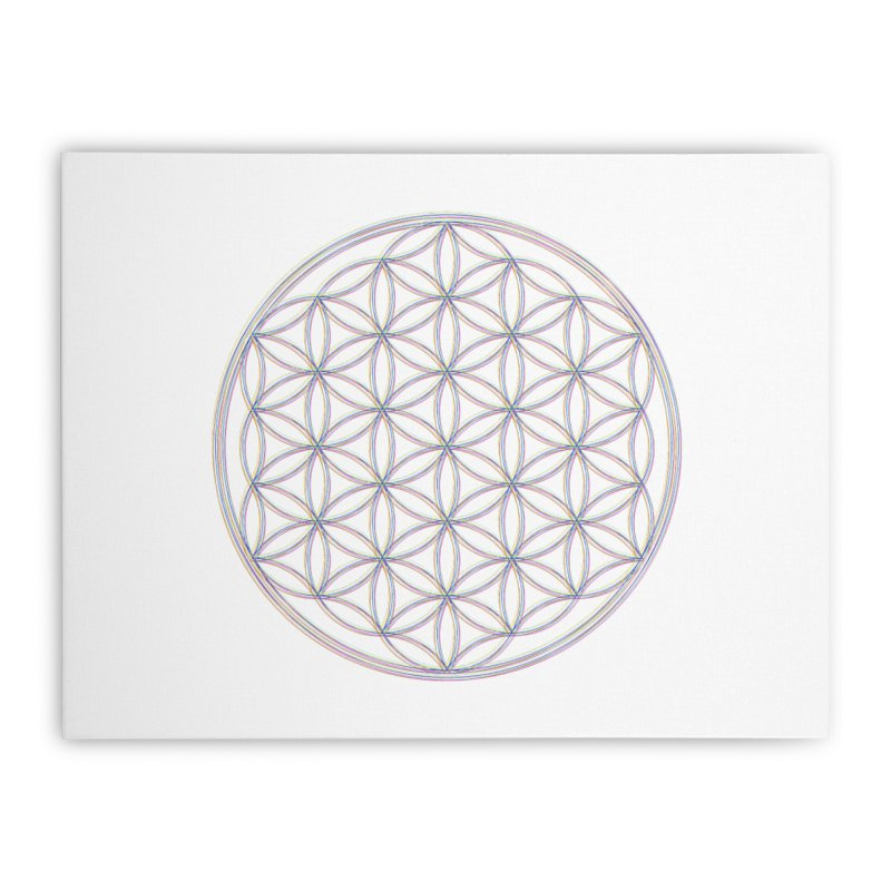 Flower of Life Home Stretched Canvas by Dream BOLD Network Shop