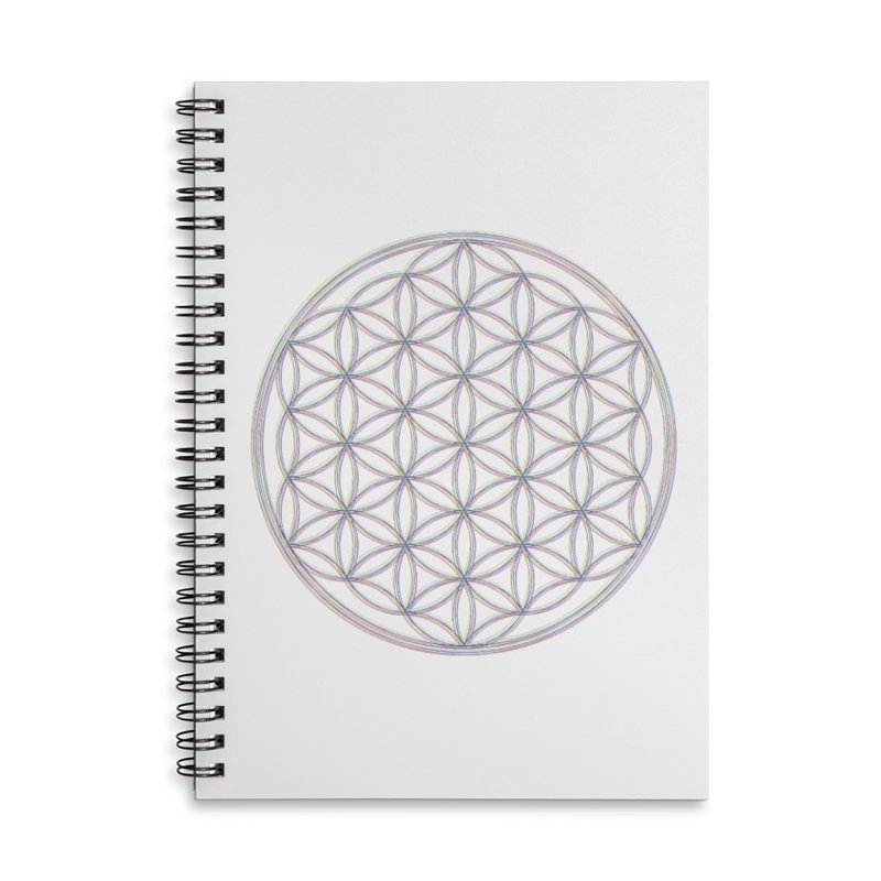 Flower of Life Accessories Lined Spiral Notebook by Dream BOLD Network Shop
