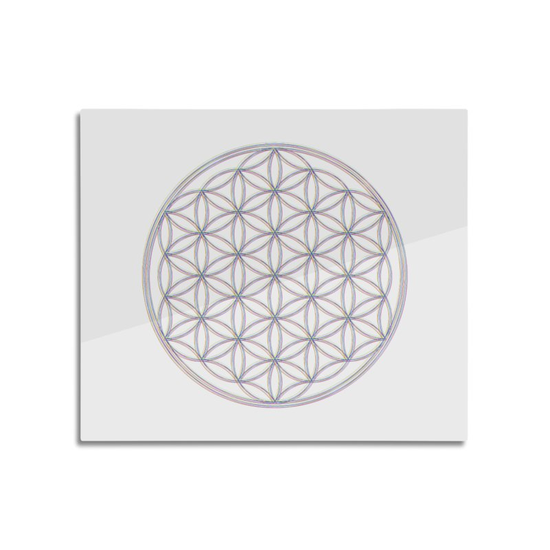 Flower of Life Home Mounted Aluminum Print by Dream BOLD Network Shop