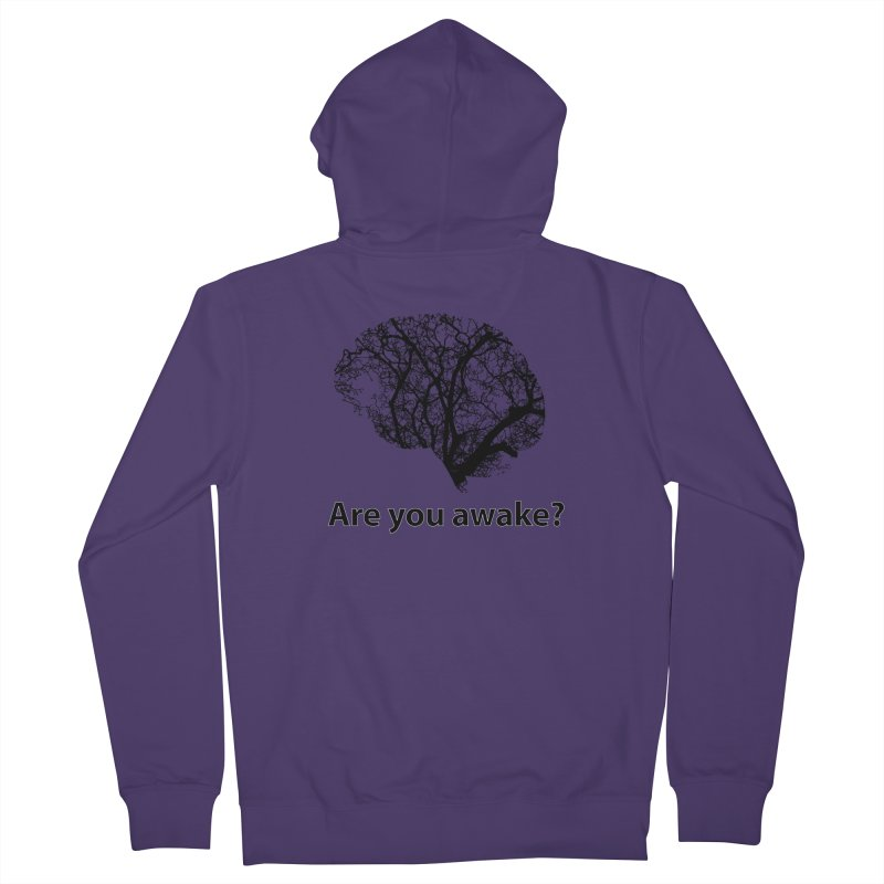 Are You Awake? Women's French Terry Zip-Up Hoody by Dream BOLD Network Shop