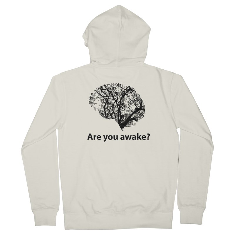 Are You Awake? Men's French Terry Zip-Up Hoody by Dream BOLD Network Shop