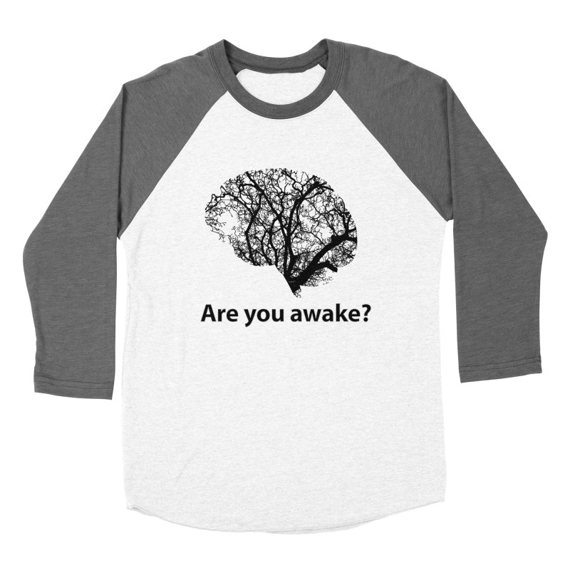 Are You Awake? Men's Baseball Triblend Longsleeve T-Shirt by Dream BOLD Network Shop
