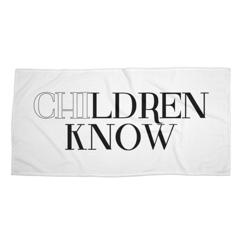 CHI-LDREN KNOW Accessories Beach Towel by Dream BOLD Network Shop
