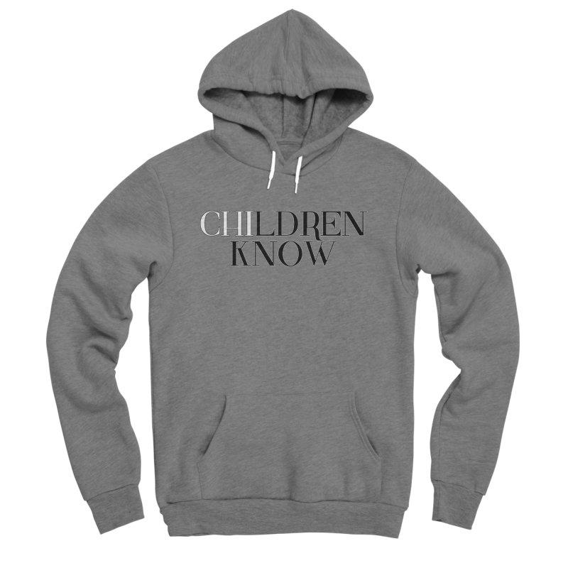 CHI-LDREN KNOW Men's Sponge Fleece Pullover Hoody by Dream BOLD Network Shop