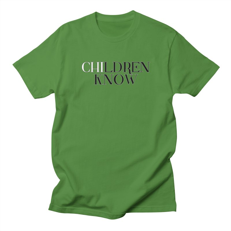 CHI-LDREN KNOW Men's T-Shirt by Dream BOLD Network Shop