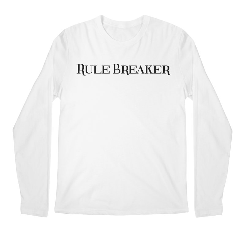Rule Breaker black Men's Regular Longsleeve T-Shirt by Dream BOLD Network Shop