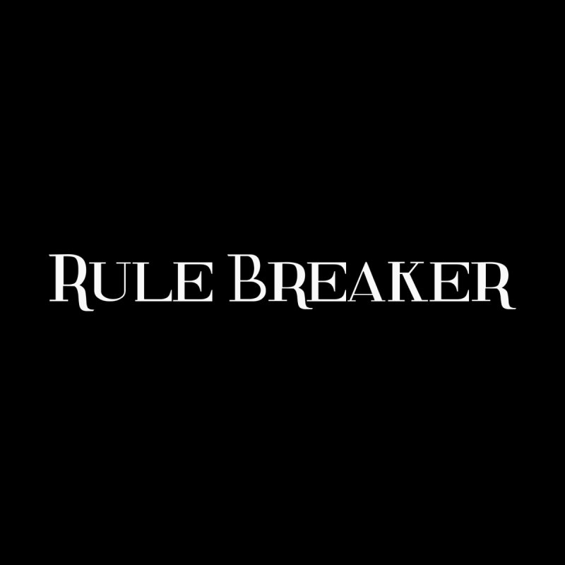 Rule Breaker White Home Stretched Canvas by Dream BOLD Network Shop