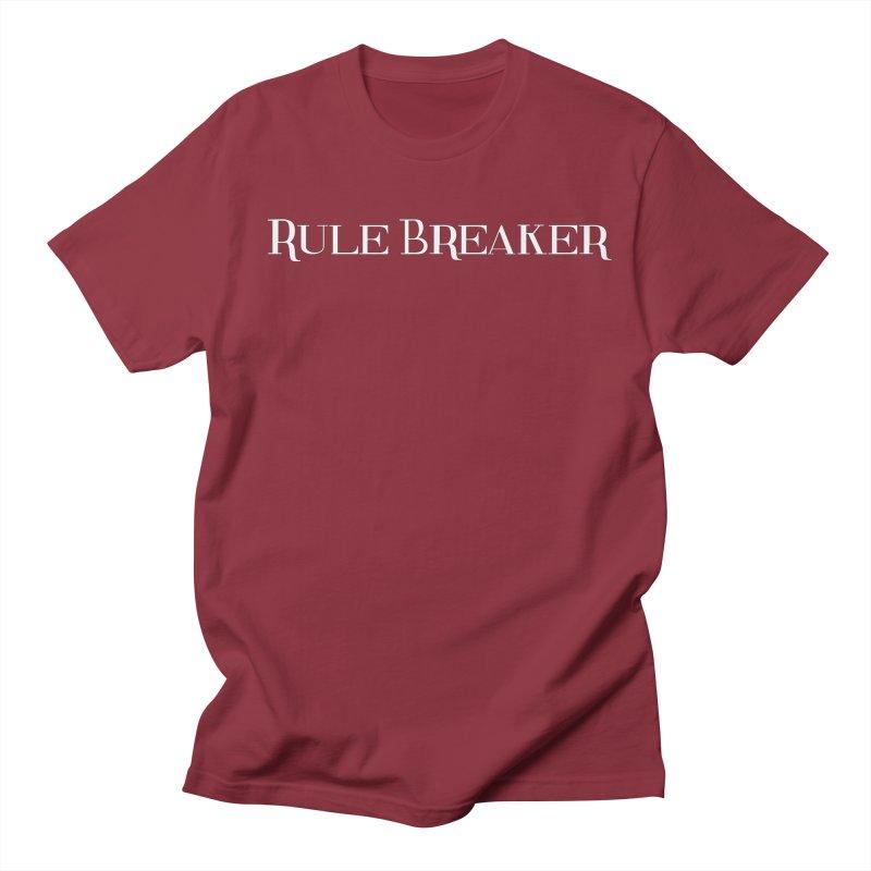 Rule Breaker White Men's T-Shirt by Dream BOLD Network Shop