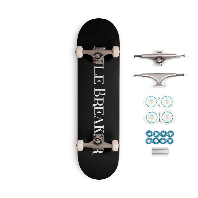 Rule Breaker White Accessories Complete - Basic Skateboard by Dream BOLD Network Shop