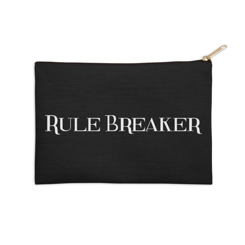 Rule Breaker White Accessories Zip Pouch by Dream BOLD Network Shop