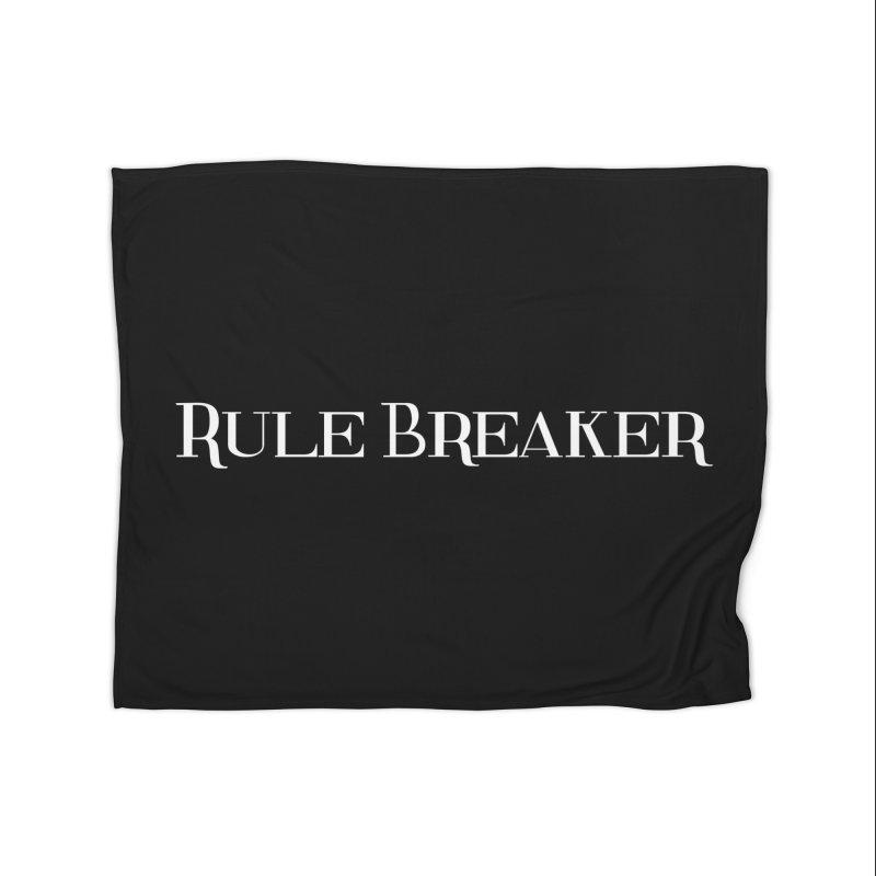 Rule Breaker White Home Fleece Blanket Blanket by Dream BOLD Network Shop