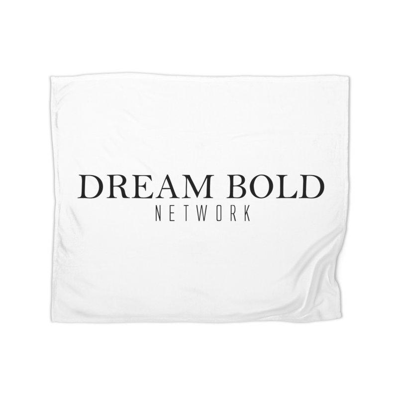 Dream Bold black Home Fleece Blanket Blanket by Dream BOLD Network Shop