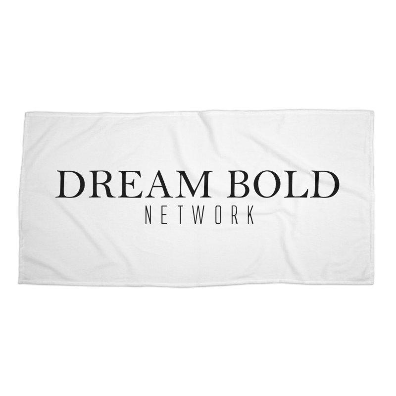 Dream Bold black Accessories Beach Towel by Dream BOLD Network Shop