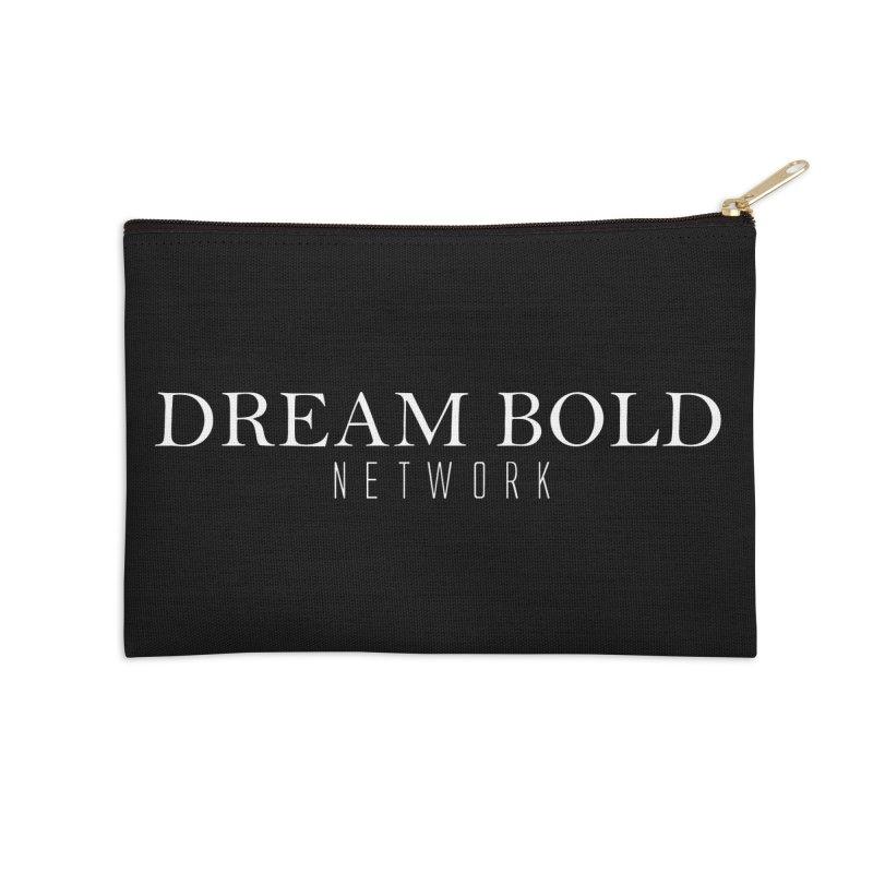 Dream Bold white Accessories Zip Pouch by Dream BOLD Network Shop