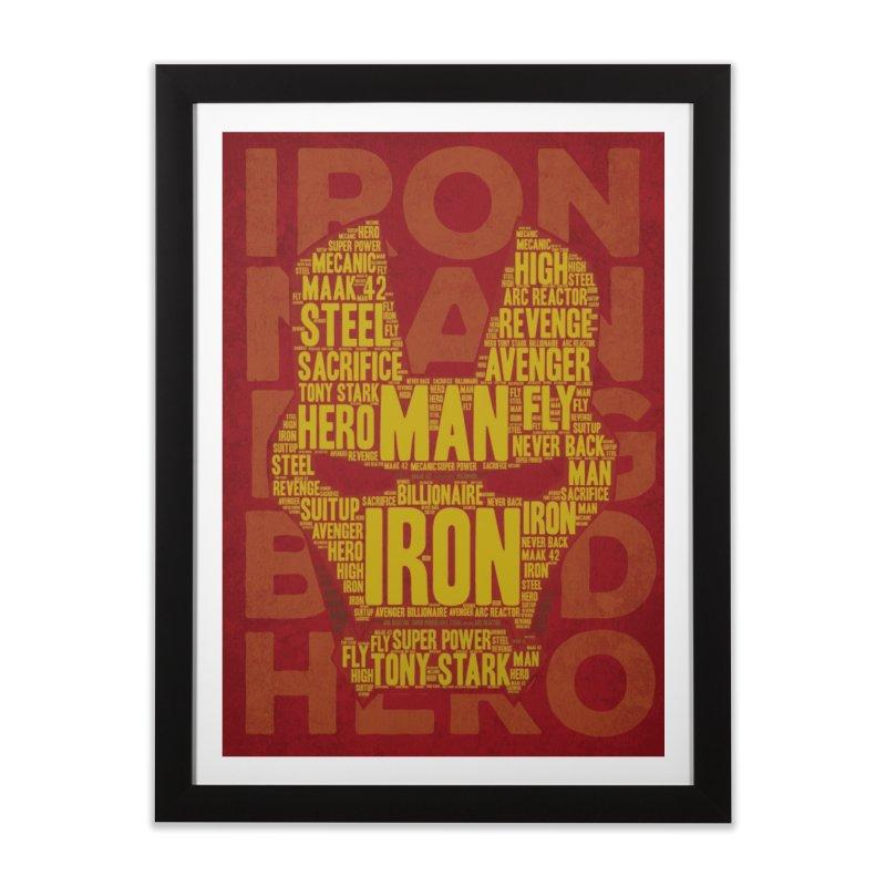 Iron Man Typo Home Framed Fine Art Print by dreamer's Artist Shop