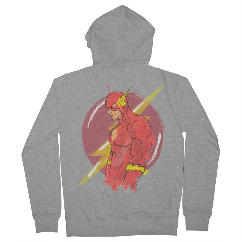 Flash is here! Men's French Terry Zip-Up Hoody by dreamer's Artist Shop
