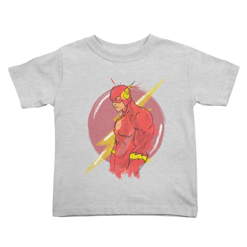 Flash is here! Kids Toddler T-Shirt by dreamer's Artist Shop