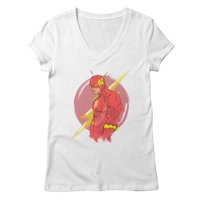 Flash is here! Women's V-Neck by dreamer's Artist Shop