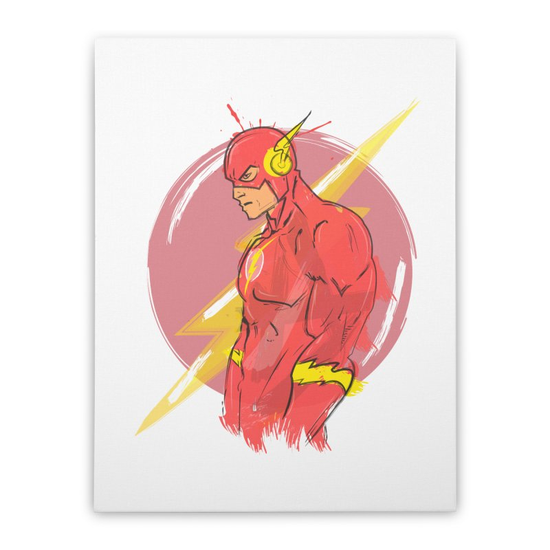 Flash is here! Home Stretched Canvas by dreamer's Artist Shop