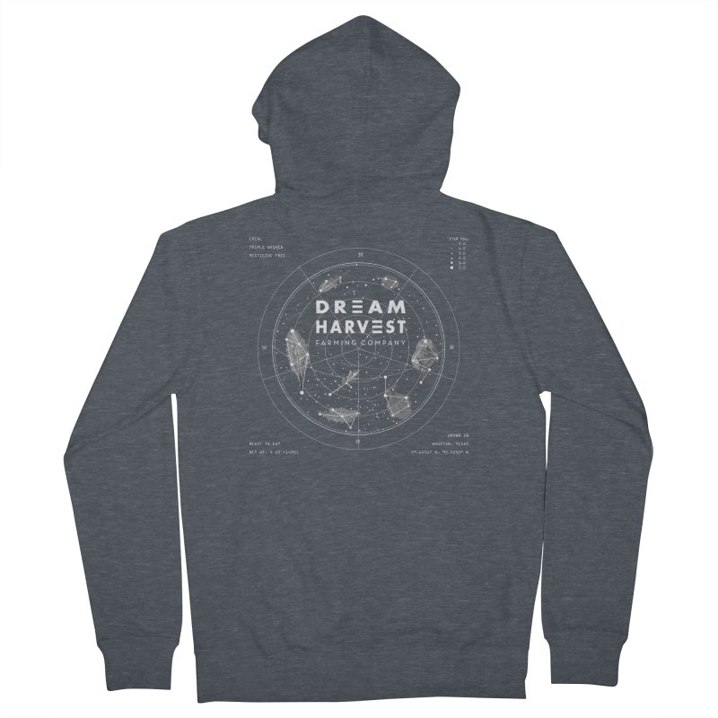 Leafy Constellation Men's French Terry Zip-Up Hoody by dreamharvest's Artist Shop