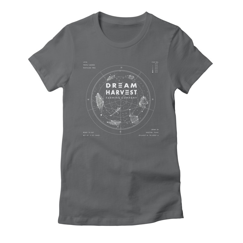 Leafy Constellation Women's Fitted T-Shirt by dream harvest's Artist Shop