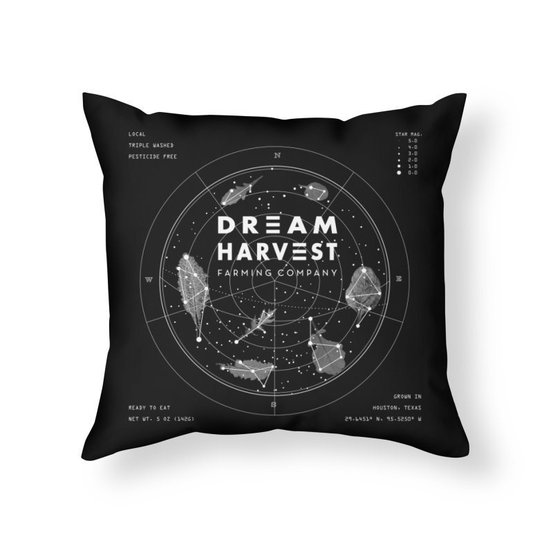 Leafy Constellation Home Throw Pillow by dreamharvest's Artist Shop