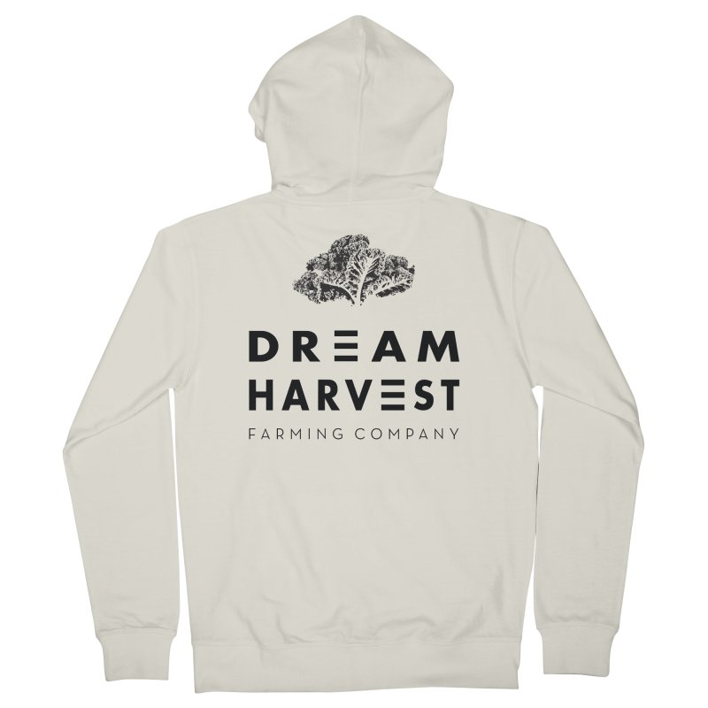 kale head Women's French Terry Zip-Up Hoody by dreamharvest's Artist Shop