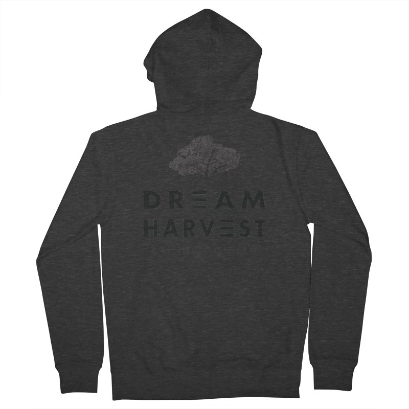 kale head Men's French Terry Zip-Up Hoody by dream harvest's Artist Shop