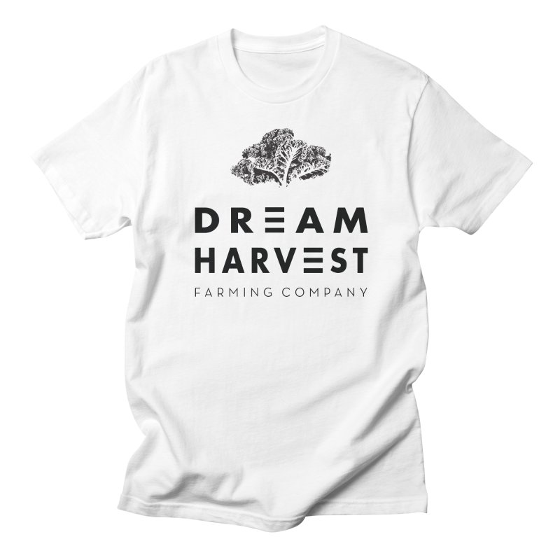 kale head in Men's Regular T-Shirt White by dreamharvest's Artist Shop