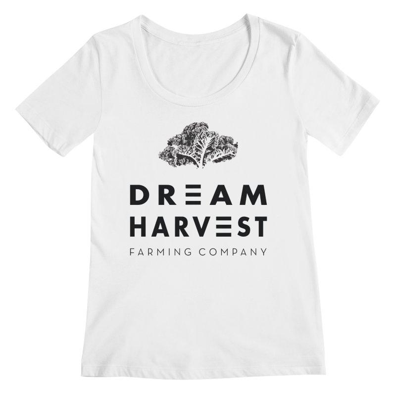 kale head Women's Regular Scoop Neck by dream harvest's Artist Shop