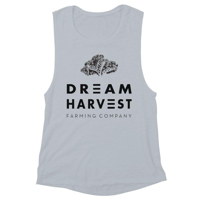 kale head Women's Muscle Tank by dream harvest's Artist Shop
