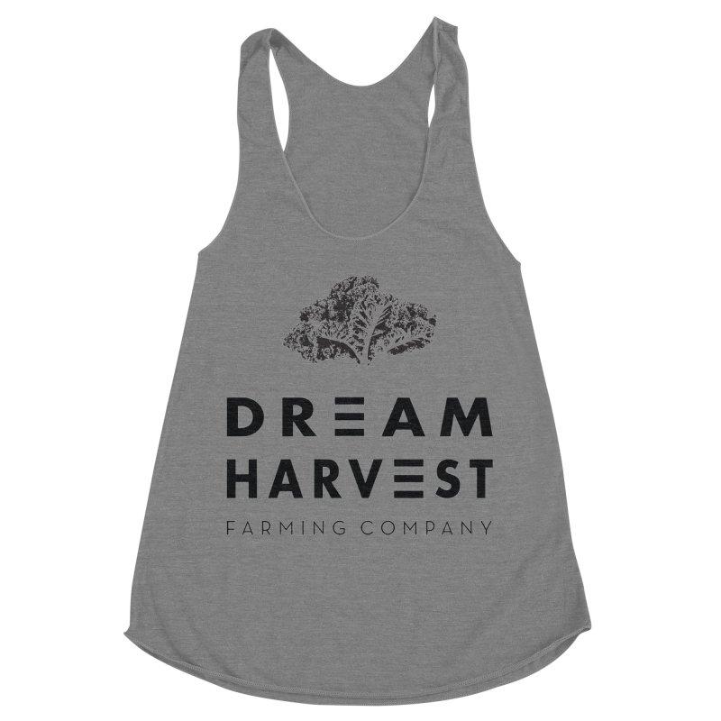kale head Women's Racerback Triblend Tank by dream harvest's Artist Shop
