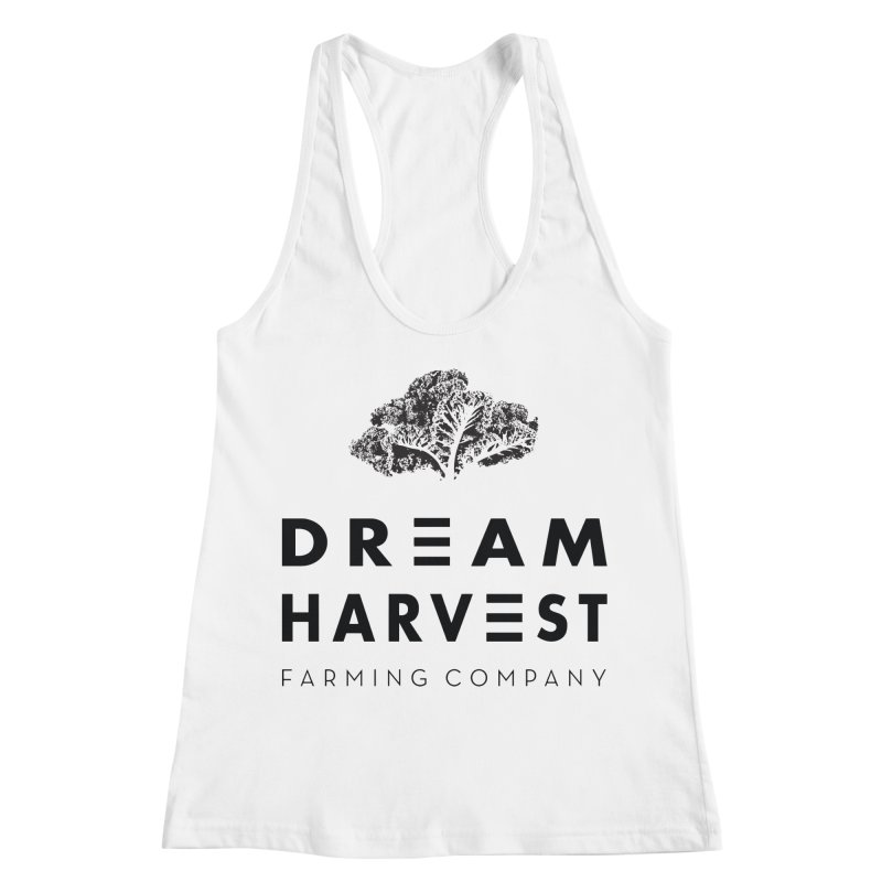 kale head Women's Racerback Tank by dream harvest's Artist Shop