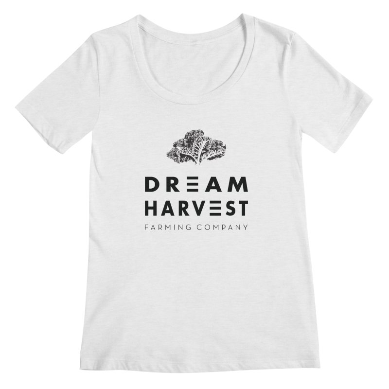 kale head Women's Scoop Neck by dream harvest's Artist Shop