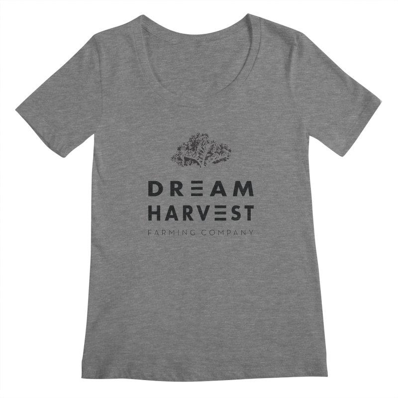 kale head Women's Regular Scoop Neck by dreamharvest's Artist Shop