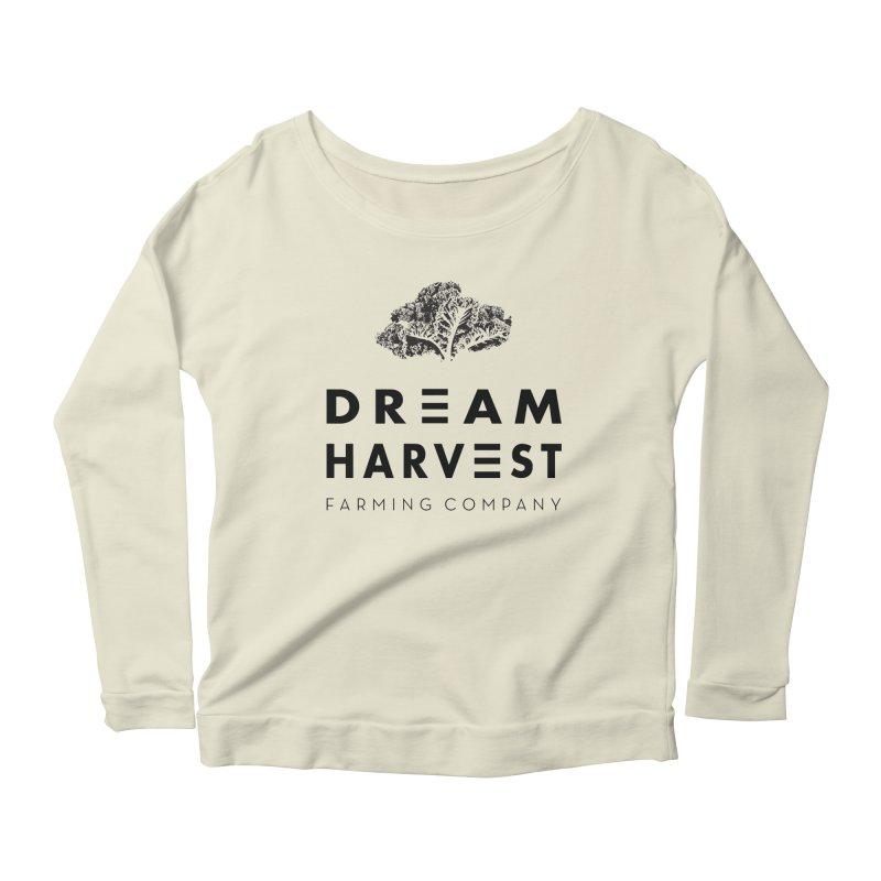 kale head Women's Scoop Neck Longsleeve T-Shirt by dreamharvest's Artist Shop