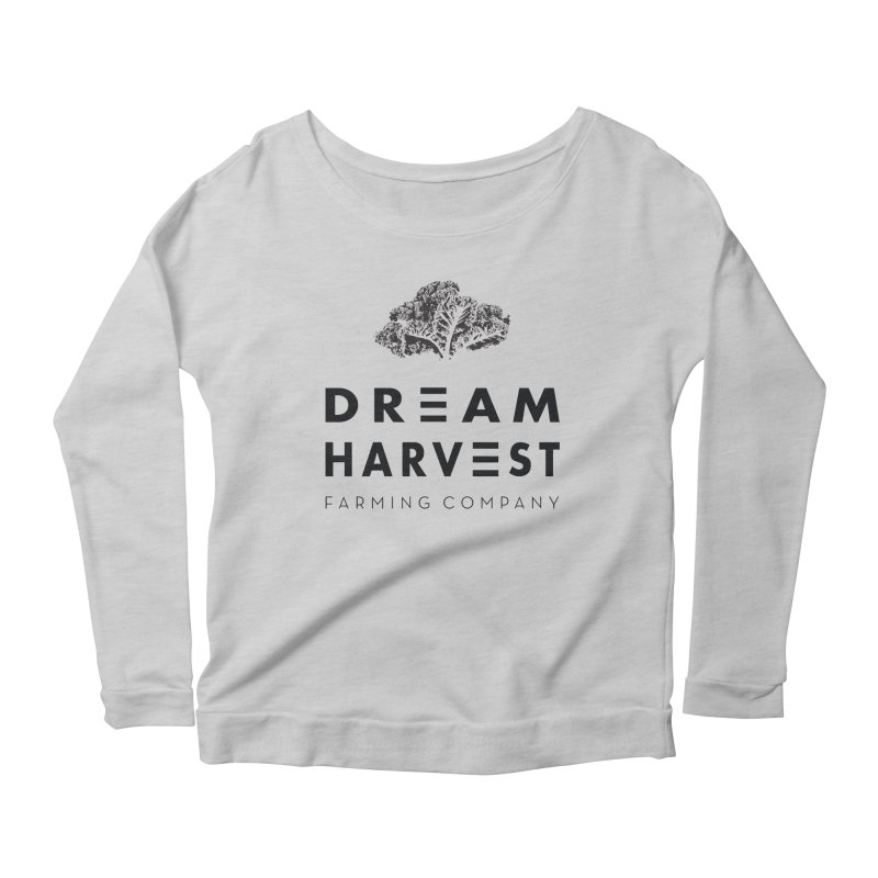kale head Women's Scoop Neck Longsleeve T-Shirt by dream harvest's Artist Shop
