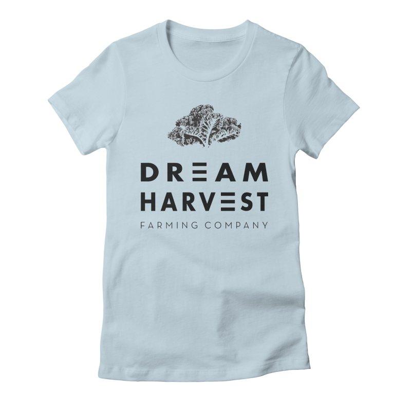 kale head Women's Fitted T-Shirt by dream harvest's Artist Shop